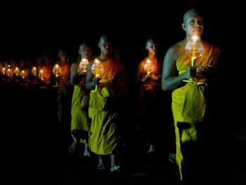 泰国清迈的灯节