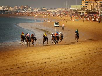 沙滩赛马07