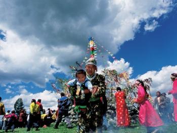 图瓦人的敖包节04