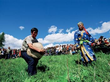 图瓦人的敖包节06