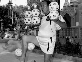 缅甸的传统运动藤球10