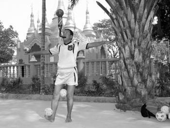 缅甸的传统运动藤球09