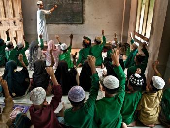 伊斯兰学校的早晨