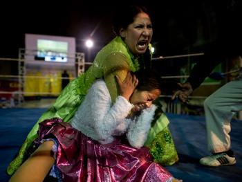 玻利维亚女子摔跤12