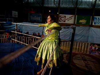 玻利维亚女子摔跤13