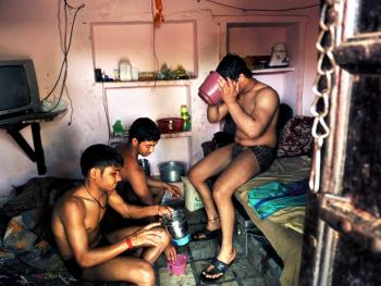 印度北部的传统摔跤学校12