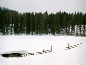 芬兰的冰泳03