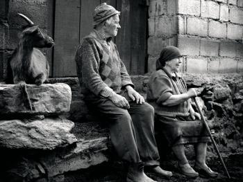 葡萄牙山村的老人