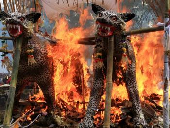 巴厘岛的火葬仪式12