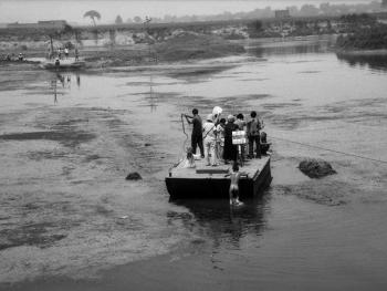 河里圈拉纤渡船08