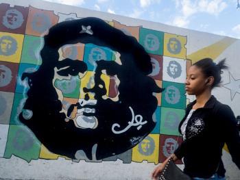 古巴的格瓦拉壁画像