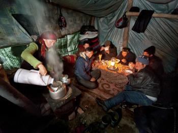 中国哈萨克族牧民的冬牧场生活11