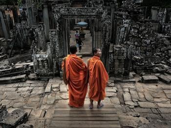 柬埔寨僧侣的袈裟10