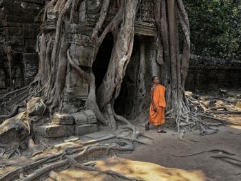 柬埔寨僧侣的袈裟11