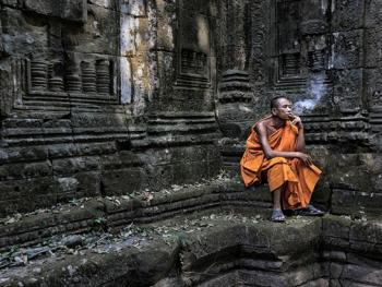 柬埔寨僧侣的袈裟12
