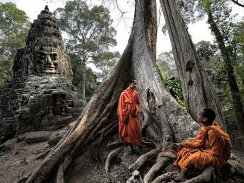 柬埔寨僧侣的袈裟01