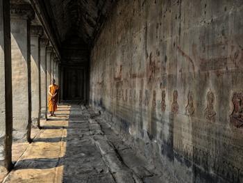柬埔寨僧侣的袈裟02