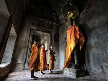 柬埔寨僧侣的袈裟04