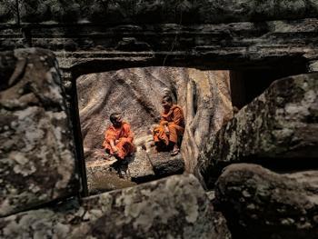 柬埔寨僧侣的袈裟05