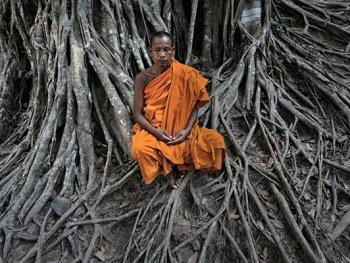 柬埔寨僧侣的袈裟06