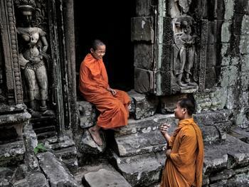 柬埔寨僧侣的袈裟08