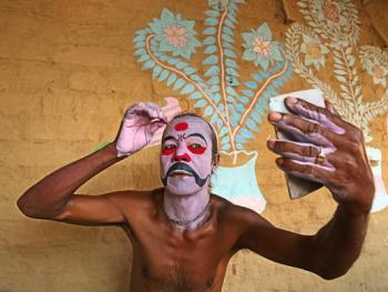 印度神话人物的装扮过程04