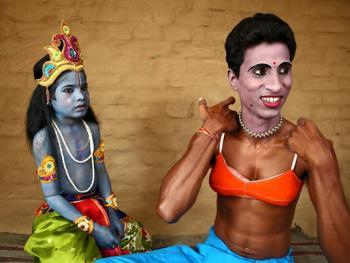 印度神话人物的装扮过程08