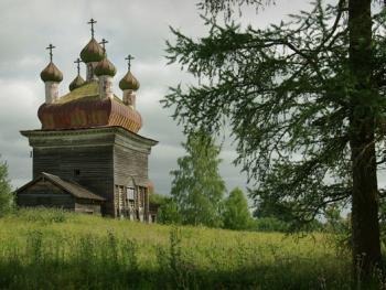 俄罗斯北部的木质教堂