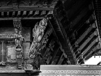 尼泊尔建筑的木雕之美