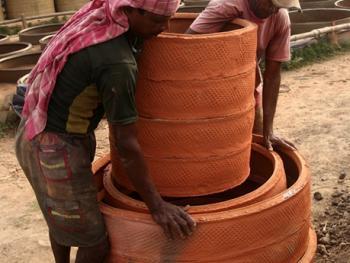 手工陶制引水套管制作12