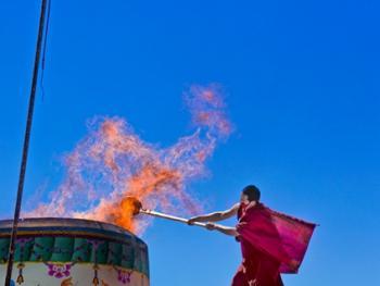 高僧火化仪式
