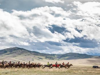 蒙古年轻牧民的生活