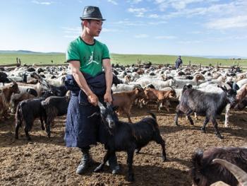 蒙古年轻牧民的生活06