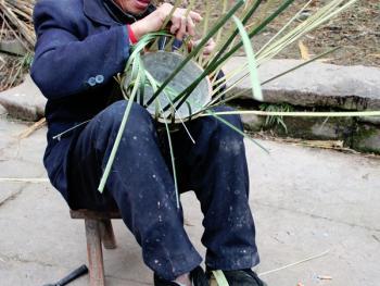 川北乡村竹烘笼