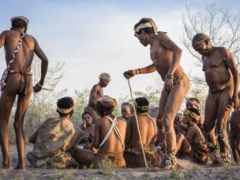 喀拉哈里沙漠的布须曼人14