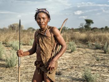 喀拉哈里沙漠的布须曼人