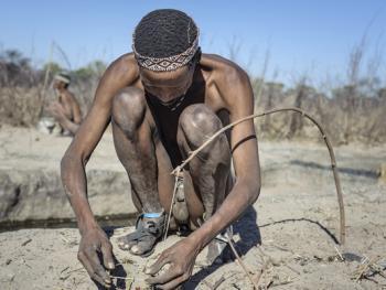 喀拉哈里沙漠的布须曼人09