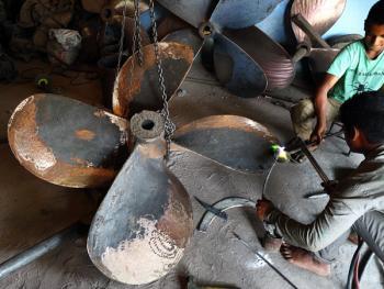 孟加拉黄铜螺旋桨的制造12