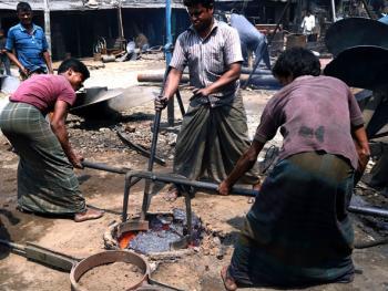 孟加拉黄铜螺旋桨的制造07