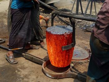 孟加拉黄铜螺旋桨的制造08
