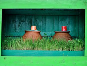 缅甸路边的免费饮水罐
