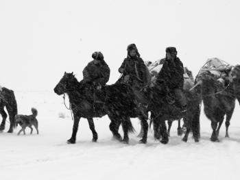 新疆北部哈萨克人冬季转场04