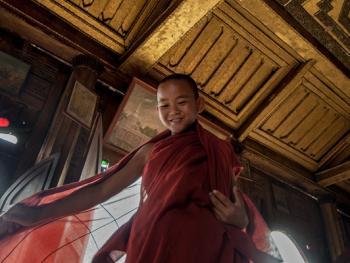 缅甸小和尚的寺院生活01