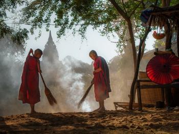 缅甸小和尚的寺院生活02