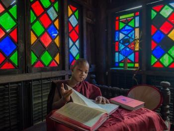 缅甸小和尚的寺院生活05