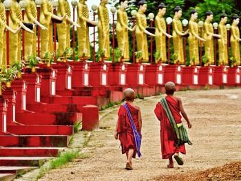 缅甸小和尚的寺院生活06
