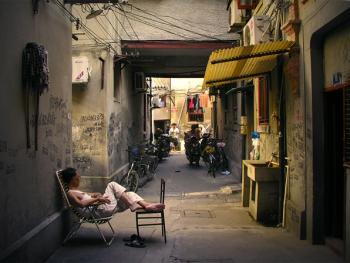 上海老弄堂里的阳光