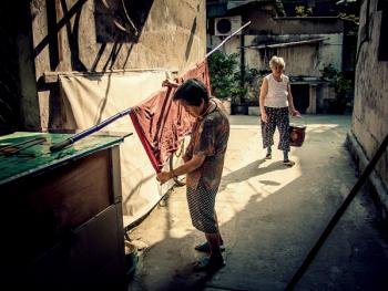 上海老弄堂里的阳光03