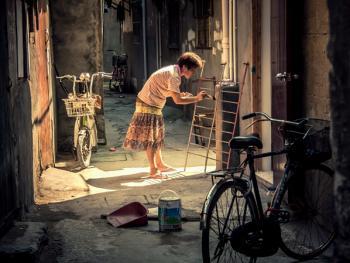 上海老弄堂里的阳光08