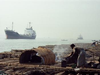 孟加拉放竹排12